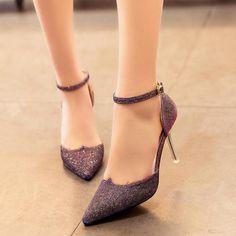 Brillant Paillettes Sexy Partie Discothèque Femmes Chaussures Boucle Sangle…