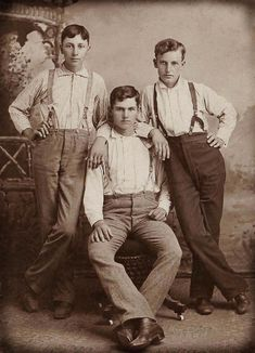 Early 1900s trio