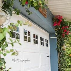 Boost your curb appeal by updating your plain garage door with these budget friendly faux garage door windows in a weekend. Read this tutorial for the details!