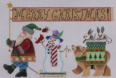Brenda Stofft Designs Santa Parade 149 Hand Painted Needlepoint Canvas | eBay