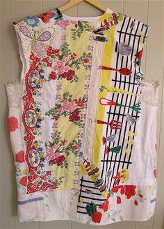 My Bonny Vintage Linens & Tablecloths Wearable Art DRESS