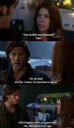 Supernatural scenes/lines Sam Winchester dean Winchester . never fails to make me laugh! Sam Winchester, Winchester Brothers, Jared Padalecki, Jensen Ackles, Misha Collins, Sammy Supernatural, Supernatural Quotes, Sherlock Quotes, Sherlock John
