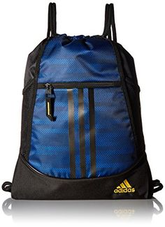 big sale d2b6d 3e32d Buy adidas Alliance II Sack Pack, One Size, Blue Ratio Black Equatorial  Yellow
