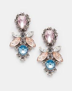 Enlarge Love Rocks Glam Statement Earrings