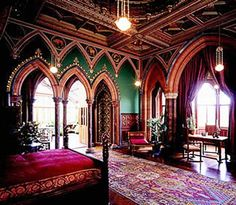Red Victorian Bedroom chpt 6: dining room, lyndhurst; tarrytown, new york, a. j. davis