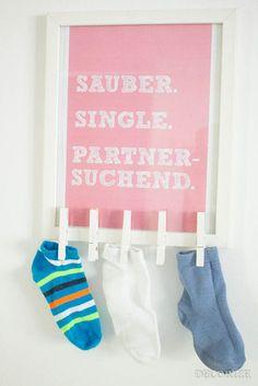 Wäsche-Single-Börse - DIY für einzelne Socken