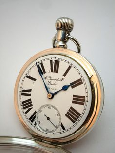 c1921 ANTIQUE ART DECO SOLID SILVER ELGIN OPEN FACE POCKET WATCH, FULLY WORKING