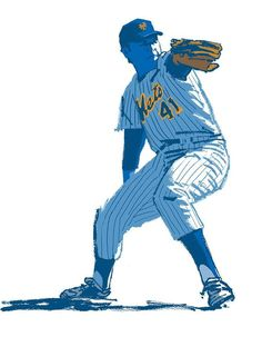 Tom Seaver by Mark Chiarello. New York Mets Baseball, Baseball Art, Ny Mets, How Soon Is Now, Diamonds In The Sky, Golf Stores, Mlb Players, Commercial Art, Sports Art