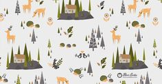 Nordic forest pattern – The Printed Fox