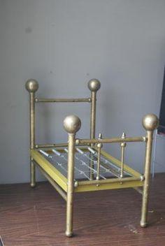 Antique Salesman Sample Brass Bed.
