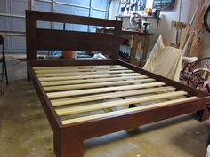 How To Build A Beautiful Custom Bed Frame for under $300 For Your Next Home DIY Project | RemoveandReplace.com
