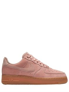 hot sales 84a78 cf91e NIKE - AIR FORCE 1 SUEDE TO GUM SNEAKERS - PINK Air Force 1, Nike