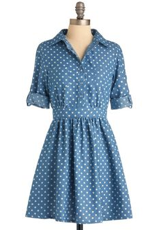 I need to get a pattern and make a million of these-- it could be my personal uniform!  Gingham, black and white dots...