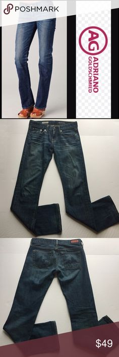 "AG Tomboy Relaxed Straight Leg Jeans AG Adriano Goldschmied the Tomboy Relaxed Straight Leg Jeans. Can be worn rolled at the hem for a boyfriend look. Approximate measurements laying flat: inseam 32"", Rise 8"". Size 26R. 👗👛👠👙👕Bundle & Save! AG Adriano Goldschmied Jeans Straight Leg"
