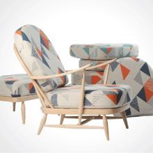 Ercol 206 Windsor Armchair In Tamasyn Gambell Fabric