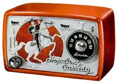 Hopalong Cassidy radio by Arvin, 1950