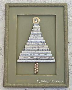 My Salvaged Treasures: Christmas Tree Roundup