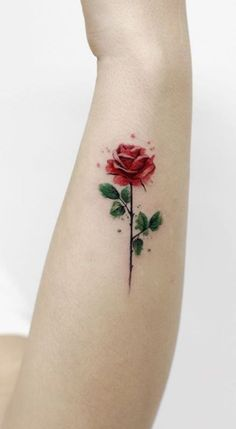Trendy Rose Tattoo Designs For Your Desire About Floral Tattoo - Page 6 of 50 - Tattoo MAG Mini Tattoos, Body Art Tattoos, New Tattoos, Tatoos, Red Rose Tattoos, Best Tattoo, Small Flower Tattoos, Small Tattoos, Tattoo Flowers