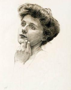 Portrait of a woman, Maria Wiik. Female Painters, Jrr Tolkien, Finland, Colored Pencils, Pastels, Mythology, Artworks, Creativity, Portraits