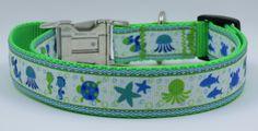 1 Summer Fun adjustable dog collar ribbon on by WagSwagPetSupplies