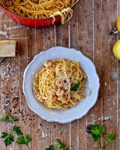 #DeliciousMondays Espaguetis con gamba Scampi videoreceta en mi canal de Youtube->http://bit.ly/2pzWKA2  Video recipe in mi Bio.