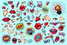 Fashion patch badges/stickers by Ka.Lina on @creativemarket