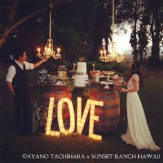 Hawaii,Sunset Ranch Wedding_ハワイウエディング_produced by AYANO TACHIHARA Wedding Design nightwedding
