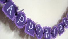 purple banner--like this? Purple Birthday, Happy Birthday Parties, Banners, Party Time, My Girl, Projects To Try, Party Ideas, Craft Ideas, Unique Jewelry