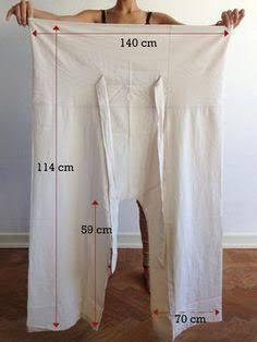Thai Fischerhose aus Bio-Baumwolle - Kita - Mix Thai fisherman pants made of organic cotton - Kita - Pantalon Thai, Sewing Patterns Free, Clothing Patterns, Dress Patterns, Shirt Patterns, Pattern Sewing, Wrap Pants, Knit Pants, Plaid Pants
