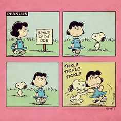 Snoopy Lucy Beware of the dog Attenti al cane