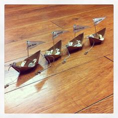 Paper Boat Table Setting Set Of 10brown by SmugglersTreasures
