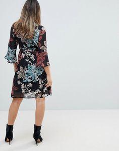 67515e74b61 Mamalicious Botanic Printed Dress With Frill Sleeve - Multi