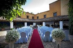 Ceremony set up at Hacienda Benazuza near Seville (Andalucia, Spain)