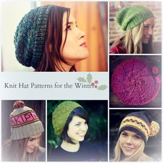48 Knit Hat Patterns for the Winter from all free knitting