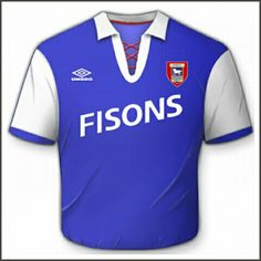 Ipswich Town home shirt for 1992-94.