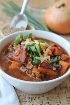 Roasted Butternut Squash & Lentil Chili - Vegan / GF