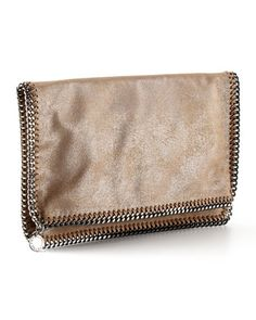 Falabella Fold-Over Clutch Bag, Redwood by Stella McCartney at Neiman Marcus.