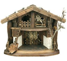 Nativity Stable by Lepi - Barn design - Manger Scenes Christmas Manger, Christmas Room, Christmas Holidays, Christmas Crafts, Christmas Decorations, Nativity Stable, Nativity Creche, Nativity Sets, Clay Figurine