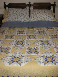 A Yellow and Blue Quilt