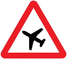 Výsledek obrázku pro aviation caution sign
