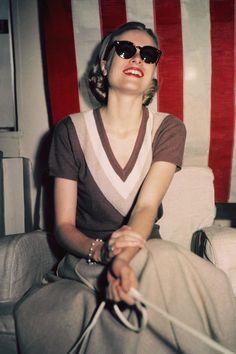 Grace Kelly en Pringle en 1956