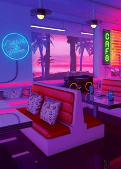 Aesthetic Wallpaper Iphone Vaporwave Ideas For 2019 Bedroom Wall Collage, Photo Wall Collage, Picture Wall, Neon Aesthetic, Aesthetic Room Decor, Music Aesthetic, Aesthetic Space, Rainbow Aesthetic, Design Café