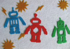 robot felt shapes with free download