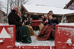 Winter wagon ride for the bridal party!