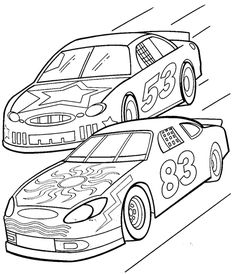 Coloriage à imprimer voiture de course