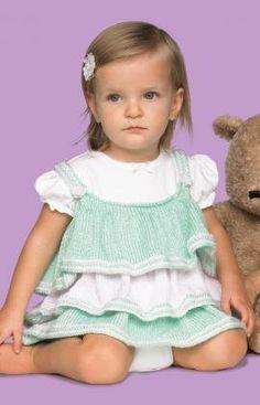 Free Knitting Pattern - Baby Knits: Baby Ruffles Dress