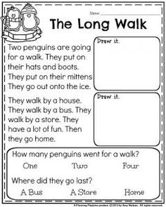 1st grade Reading Comprehension passage for January - The Long Walk