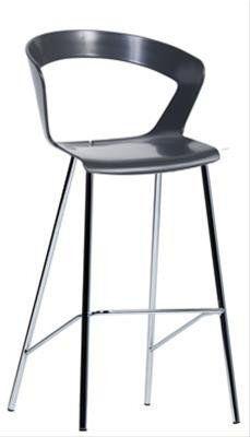 Zebra Modern Plastic High Bar Stool 80cm In White Pinterest Stools And Chrome