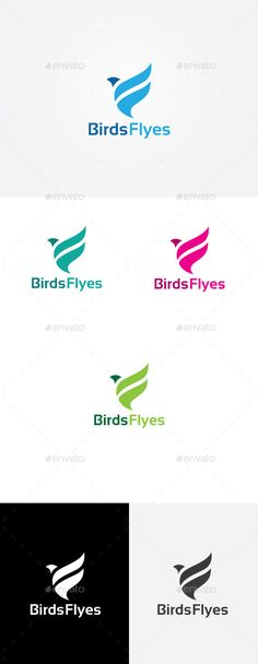 Bird Fly Logo Design Template Vector #logotype Download it here: http://graphicriver.net/item/bird-fly-logo/9207514?s_rank=837?ref=nexion