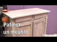 Tuto bricolage : patiner un meuble , Painting Wooden Furniture, Deco Furniture, Upcycled Furniture, Home Furniture, Modern Furniture, Furniture Design, Sofa Design, Diy Design, Home Staging